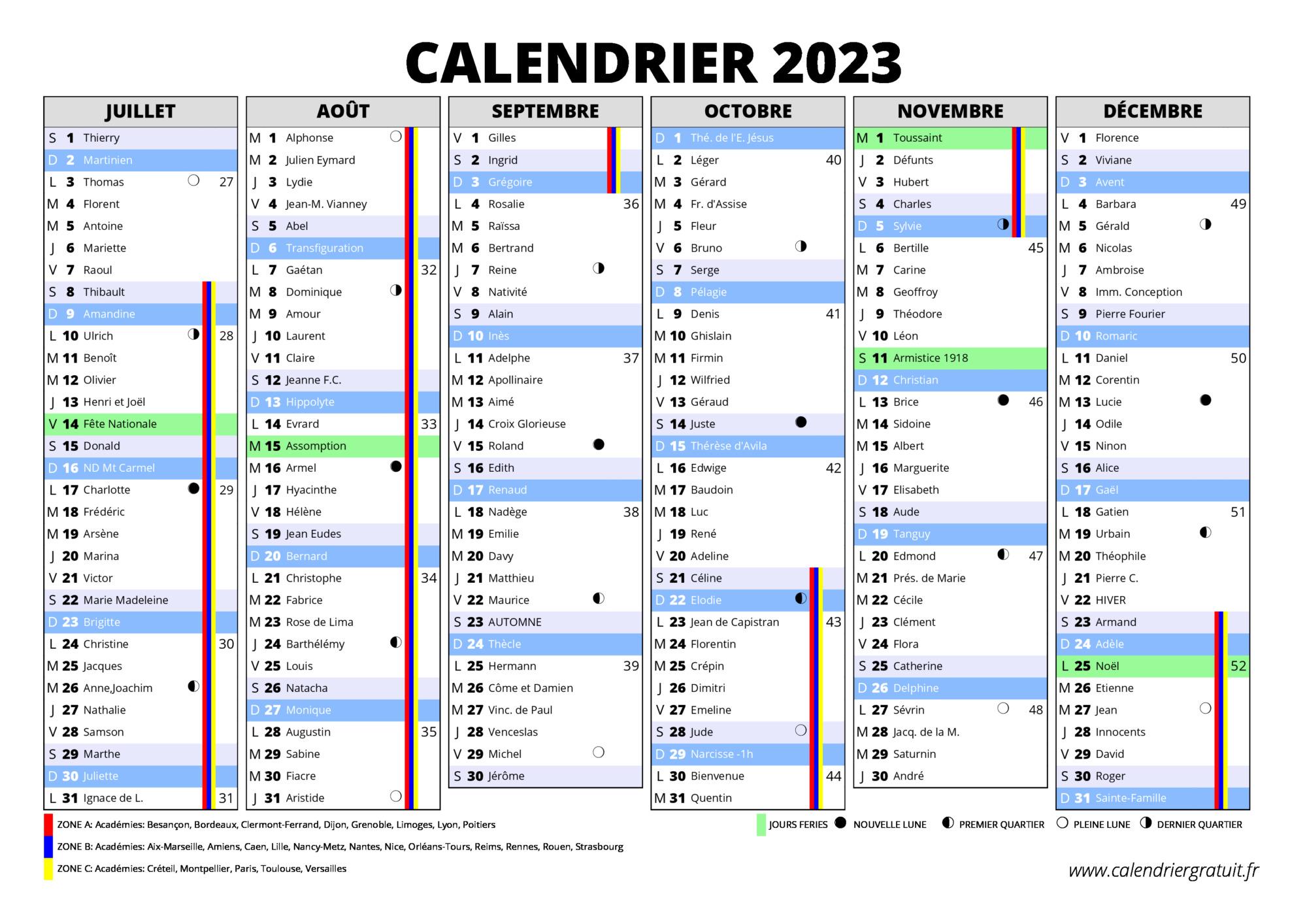 Calendrier 2022 2023 Ce1 22BET
