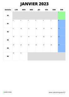 Calendrier Mensuel Juin 2019.Calendrier Mensuel En 3 Clics Format Excel Jpg Pdf