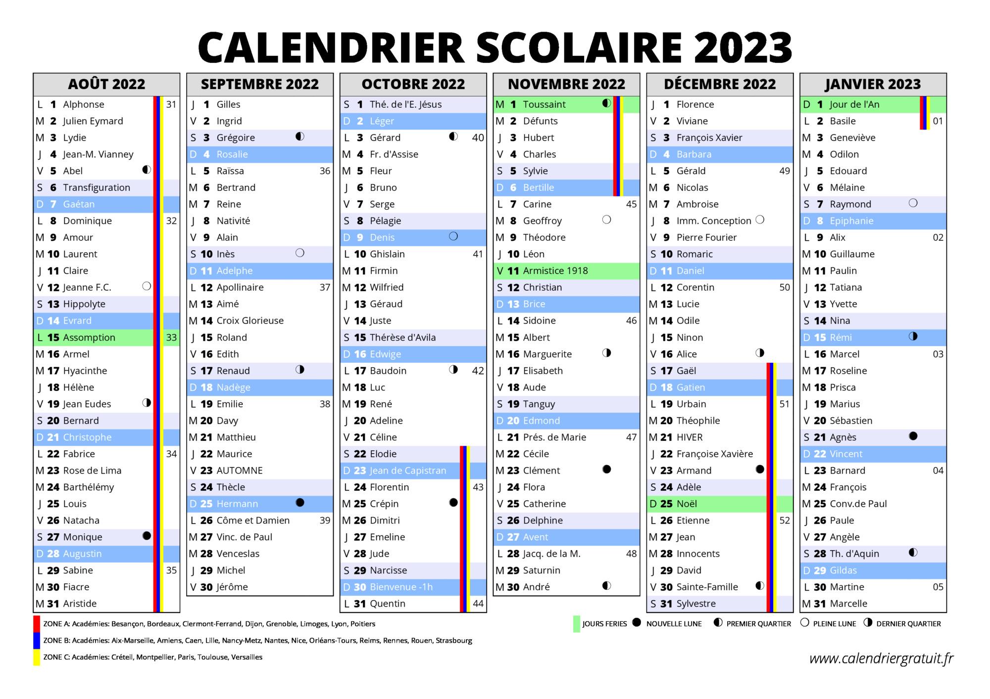 Calendrier Excel 2022 2023 Calendrier Excel Vacances Scolaires 2022 2023   Calendrier Novembre
